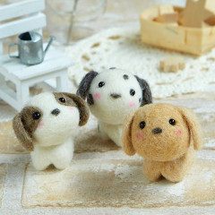 Japan Hamanaka Wool Needle Felting Kit - Cute Puppy Buddy