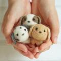 Japan Hamanaka Wool Needle Felting Kit - Cute Puppy Buddy - 2