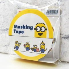 Japan Despicable Me Washi Paper Masking Tape -  Minions White 15mm × 5m