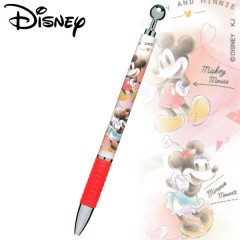 Japan Disney Mechanical Pencil - Mickey Mouse & Minnie Mouse Red