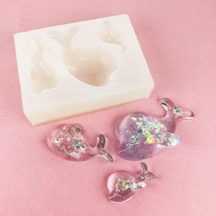 Clay / UV Resin Soft Mold - Mini Dolphin