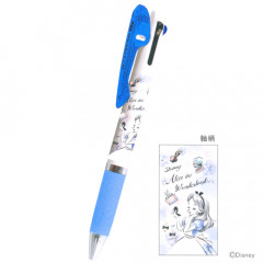 Japan Disney Jetstream 3 Color Multi Pen - Alice in the Wonderland White