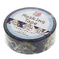 Japan Sailor Moon Washi Paper Masking Tape - Navy Rabbit