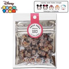 Japan Disney Drop Peko 100 Flake Sticker - Tsum Tsum Mickey & Friends