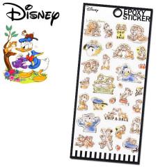 Japan Disney Epoxy Seal Sticker - Donald Duck vs Chip & Dale