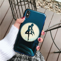 Sailor Moon Prism Power Make up Navy Holographic Phone Case - iPhone 7 Plus & iPhone 8 Plus