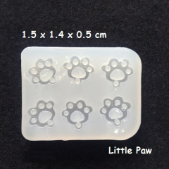 Clay / UV Resin Soft Mold - Mini Cat Dog Paw Pendant Jewelry Earring