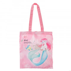 Japan Disney Eco Shopping Bag - Princess Ariel Pink Pearl