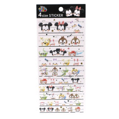 Japan Disney 4 Size Sticker - Tsum Tsum Comics