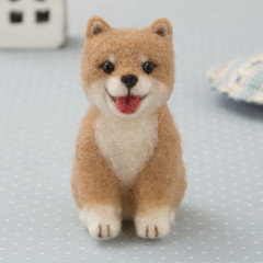 Japan Hamanaka Aclaine Needle Felting Kit - Miniature Shiba Puppy