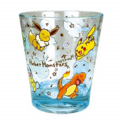 Japan Pokemon Pikachu & Friends Acrylic Cup Clear Airy - Blue