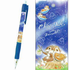 Japan Disney Mechanical Pencil - Chip and Dale Star Night