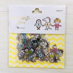 Moji Moji Flake Stickers 78pcs - Alphabet 014L