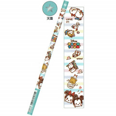 Japan Disney HB Pencil - Tsum Tsum Blue Stripe