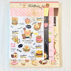 Japan Rilakkuma Letter Envelope Set - Deli Cafe