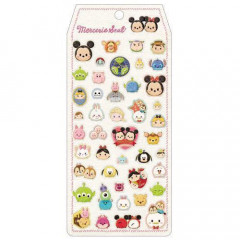 Japan Disney Gold Foil Seal Sticker - Tsum Tsum Characters