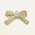 Circle Key Jewelry Charm - Silver Lace Ribbon - 1
