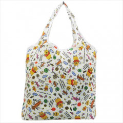 Japan Disney Winnie The Pooh Eco Shopping Bag - White