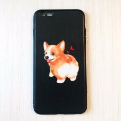 Cute Happy Corgi Butt Black Phone Case - iPhone 6 & iPhone 6s