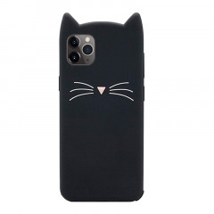 Cute Cat Black Rubber Phone Case