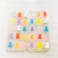 Gummy Bear Glitter Transparent Phone Case - iPhone Xs Max