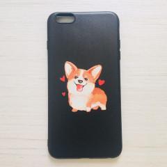 Cute Happy Corgi Black Phone Case - iPhone 6 Plus & iPhone 6s Plus