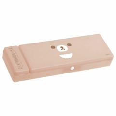 Japan San-X Plastic Pen Case - Rilakkuma / Chairoikoguma DIY Plushie / Face