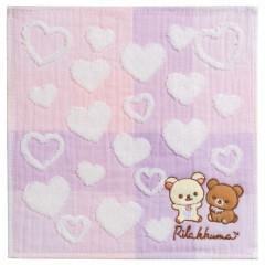 Japan San-X Mini Towel - Rilakkuma / Heart