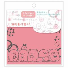Japan San-X Fluorescent Sticky Notes - Sumikko Gurashi / Pink