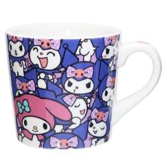 Japan Sanrio Ceramic Mug - Kuromi & My Melody