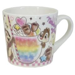 Japan Disney Ceramic Mug - Chip & Dale / Colorful Dream