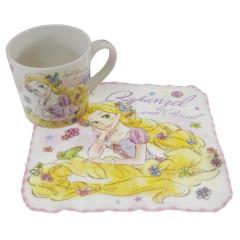 Japan Disney Pottery Mug & Mini Towel Set - Rapunzel / Sweet Friends