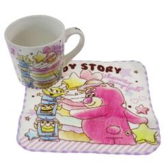 Japan Disney Pottery Mug & Mini Towel Set - Toy Story Aliens & Lotso / Colorful Dream