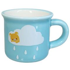 Japan San-X Mini Porcelain Mug - Rilakkuma / Rain