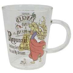 Japan Disney Glasses Mug - Rapunzel / Vintage