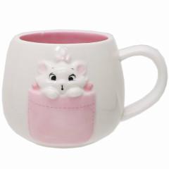 Japan Disney Ceramic Mug - Marie / pocket