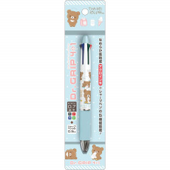 Japan San-X Dr. Grip 4+1 Multi Pen & Mechanical Pencil - Kogumachan / Blue