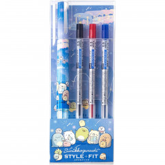Japan San-X Style Fit 3 Color Multi Ball Pen - Sumikko Gurashi / Starry Sky Walk Navy