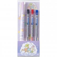 Japan San-X Style Fit 3 Color Multi Ball Pen - Sumikko Gurashi / Starry Sky Walk Pink