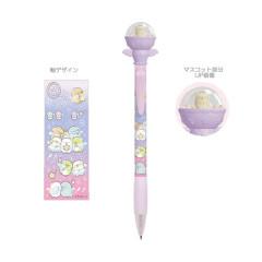 Japan San-X Sumikko Gurashi Mascot Ballpoint Pen - Neko Cat / Starry Sky Walk
