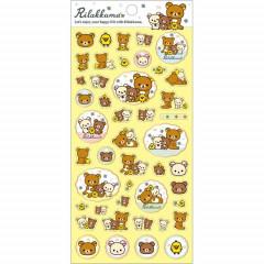 Japan San-X Rilakkuma Bear Seal Sticker - Happy life with Rilakkuma 2