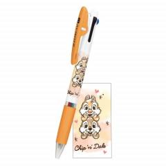 Japan Disney Jetstream 3 Color Multi Pen - Chip & Dale