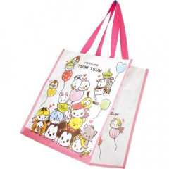 Japan Disney Shopping Tote Bag - Tsum Tsum Cherry Pink