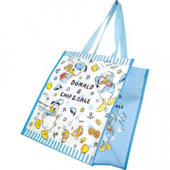 Japan Disney Shopping Tote Bag - Donald Duck Blue