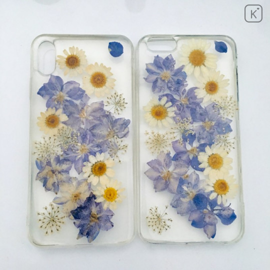Pressed Flower Chrysanthemum Elegant Purple Phone Case - iPhone XR - 1