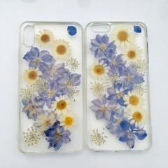 Pressed Flower Chrysanthemum Elegant Purple Phone Case - iPhone Xs Max