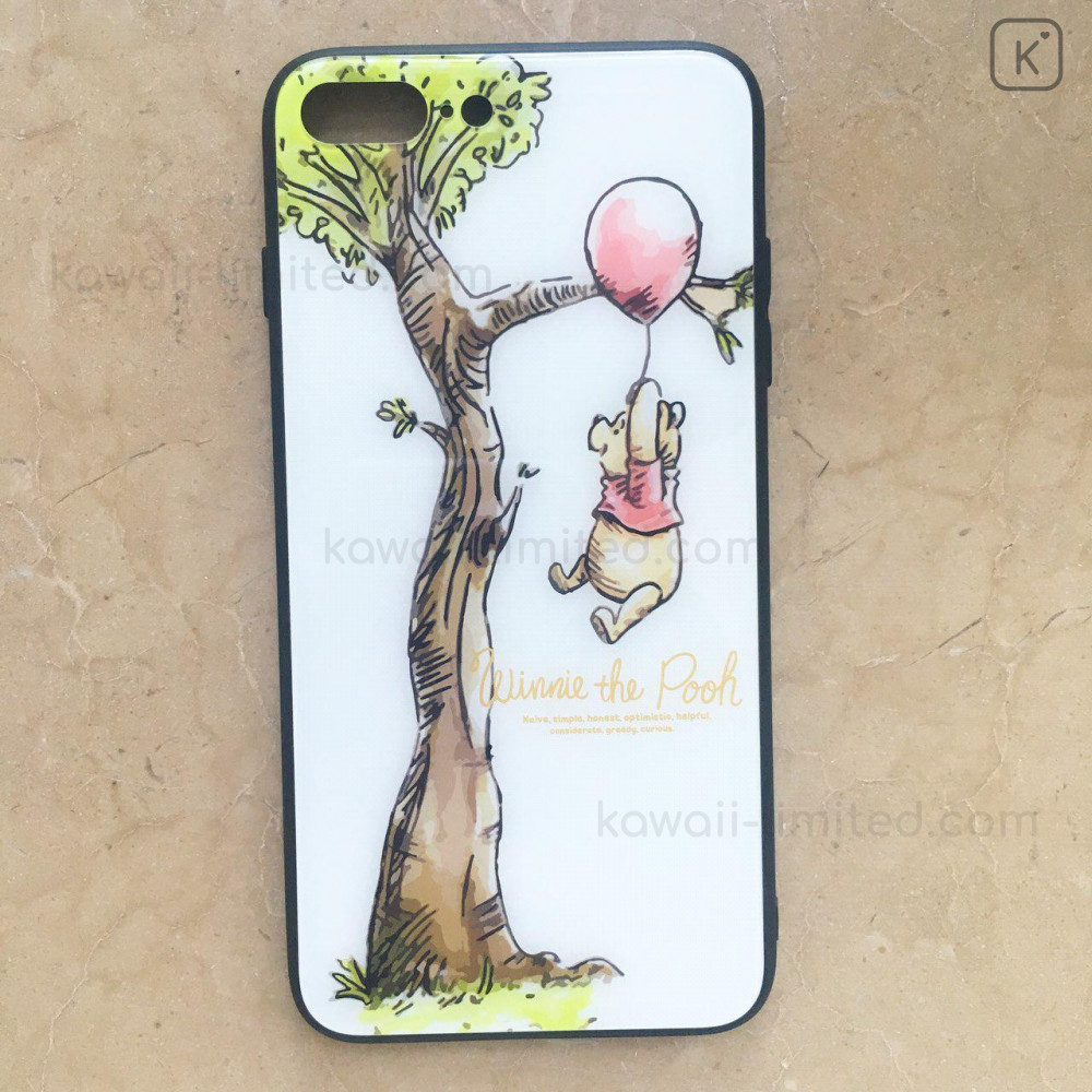 Winnie the Pooh & Tree White Glasses Phone Case - iPhone 7 & iPhone 8