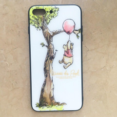 Winnie the Pooh & Tree White Glasses Phone Case - iPhone 7 Plus & iPhone 8 Plus
