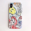 Little Mermaid Ariel & Flounder Watercolor Comic Phone Case - iPhone 7 & iPhone 8 - 1