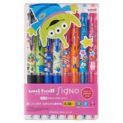 Japan Disney Uni Ball Signo 0.38mm 6 Colors Pens 8pcs - Toy Story